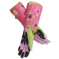 Segove Women Long Gardening Gloves, Rose Pruning Gloves with Reinforced Fingertips, 10.5cm / 4.13inch Palm Width Puncture & Thorn Proof Glove with Long Forearm Protection for Flower Planting Pruning