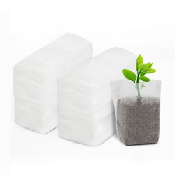 4.3x5.5 inches 200pcs Plant Seedling Bags, EnPoint Non-Woven Nursery Bag, Grow Bags for Seedlings, Fabric Plants Grow Seed Starter Seedling Pots Pouch Home Garden Supply