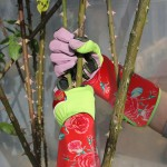 Women Long Gardening Gloves, ENPOINT Durable Thorn Proof Pruning Gloves With Puncture Resistant, Rose Garden Gloves With Extra Long Forearm Protection For Gardeners, Red