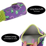 Garden Gloves Thorn Proof, ENPOINT Rose Pruning Garden Gloves With Elbow Length Sleeve Protection For Woman, Cute Rose Gardening Gloves With Long Cuff Protection for Blackberry Plants Rose Bush, Purple